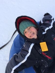 Chillaxin on a snow tube!